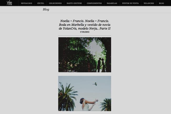 Noelia y Francis en el blog de YolanCris